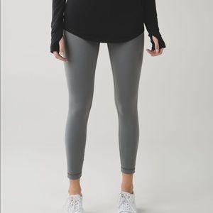 Lululemon slate grey high times pants 7/8 length 8